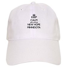 Keep calm we live in New Hope Minnesota Baseball Cap