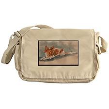 Sleeping Papillon Messenger Bag