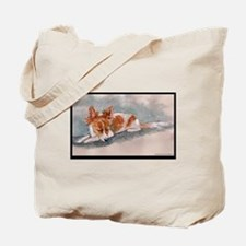 Sleeping Papillon Tote Bag