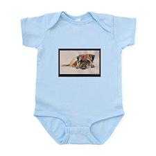 Sleepy Border Terrier Infant Bodysuit