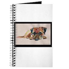 Sleepy Border Terrier Journal