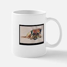 Sleepy Border Terrier Mug
