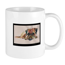 Sleepy Border Terrier Mug