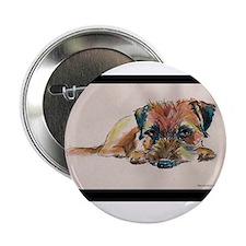 "Sleepy Border Terrier 2.25"" Button (10 pack)"