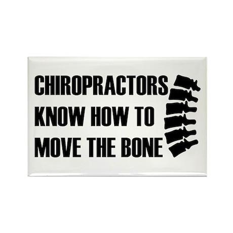 Move The Bone Rectangle Magnet