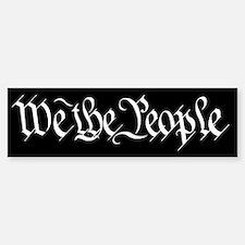 We The People Bumper Car Car Sticker