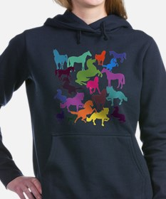 Rainbow Horses Women's Hooded Sweatshirt