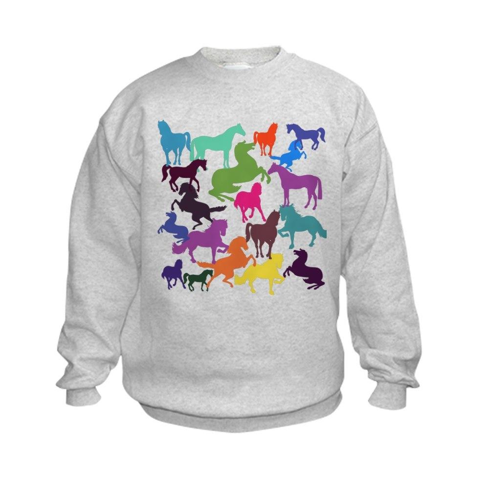 CafePress Rainbow Horses Jumper Sweater