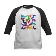 Rainbow Horses Baseball Jersey