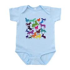 Rainbow Horses Body Suit