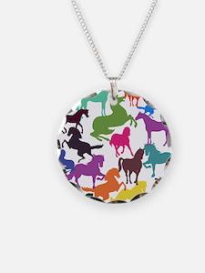 Rainbow Horses Necklace