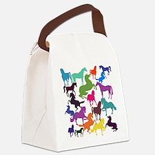 Rainbow Horses Canvas Lunch Bag