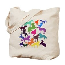 Rainbow Horses Tote Bag