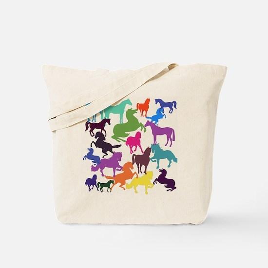 Rainbow Horses Tote Bag