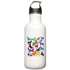 Rainbow Horses Sports Water Bottle