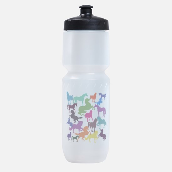 Rainbow Horses Sports Bottle