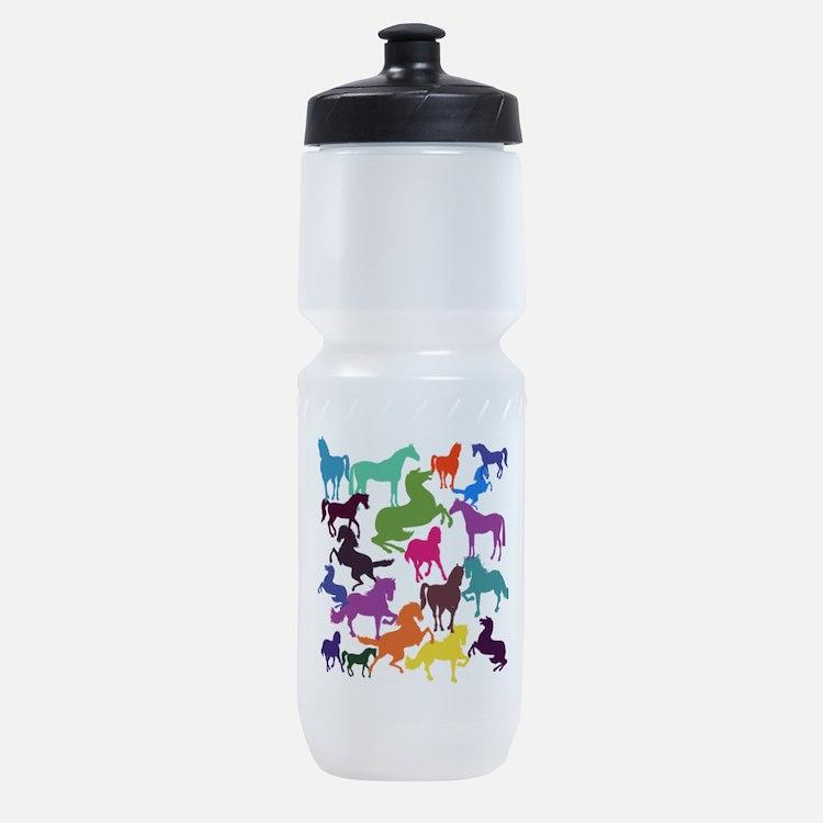 Rainbow Horses Sports Bottle