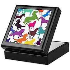 Rainbow Horses Keepsake Box