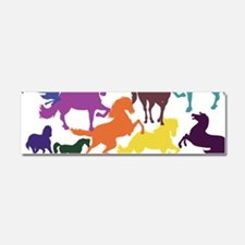 Rainbow Horses Car Magnet 10 x 3