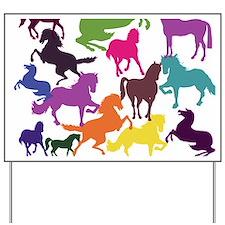Rainbow Horses Yard Sign