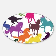 Rainbow Horses Decal