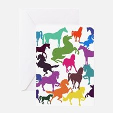 Rainbow Horses Greeting Cards