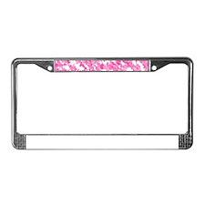 Pink Bunnyflage License Plate Frame