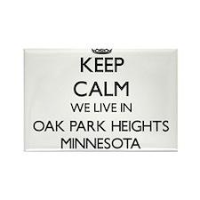 Keep calm we live in Oak Park Heights Minn Magnets