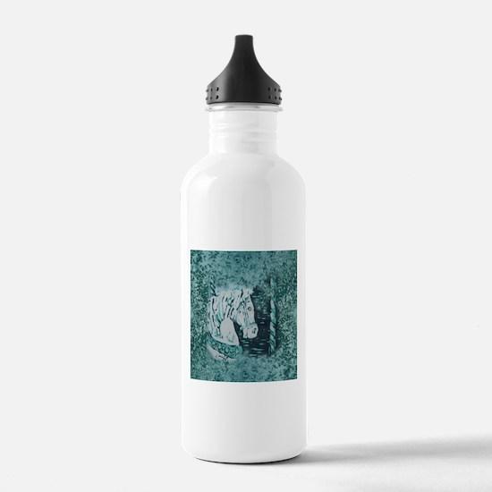 Carousel Horse Aquamar Water Bottle