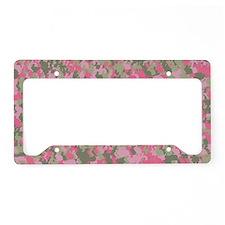 Pink Bunnyflage 2 License Plate Holder