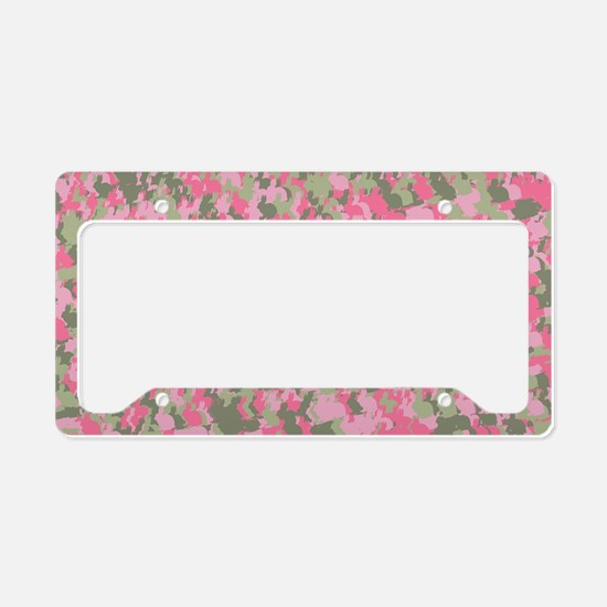 Pink Bunnyflage 2 License Plate Holder