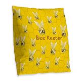 Bee keeper Burlap Pillows