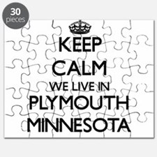 Keep calm we live in Plymouth Minnesota Puzzle
