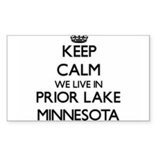 Keep calm we live in Prior Lake Minnesota Decal