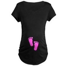 Baby Girl Feet Maternity T-Shirt
