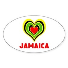 JAMAICA HEART Decal