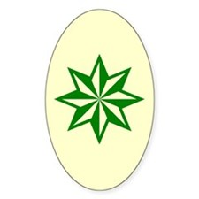 Green Guiding Star Oval Decal