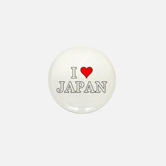 I Love Japan Mini Button