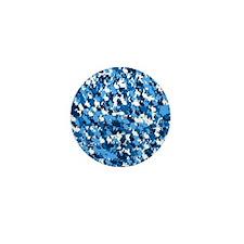 Blue Bunnyflage Mini Button