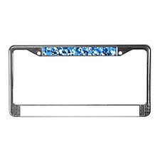 Blue Bunnyflage License Plate Frame