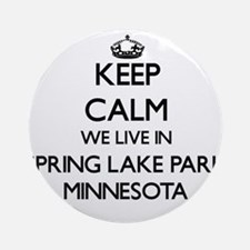 Keep calm we live in Spring Lake Ornament (Round)