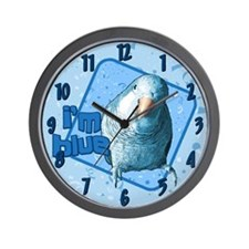 I'm Blue Quaker Wall Clock