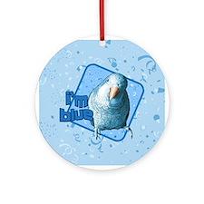 I'm Blue Quaker Ornament (Round)