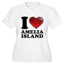 I Heart Amelia Island Plus Size T-Shirt