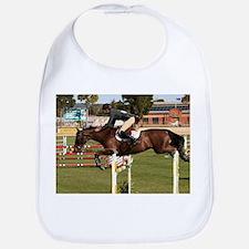 Show jumping horse and rider 2 Bib