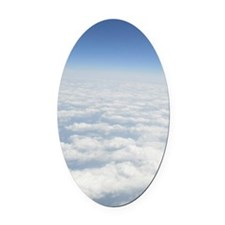 Endless Skies Oval Car Magnet