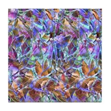 Floral Stained Glass 2 Tile Coaster