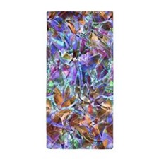 Floral Stained Glass 2 Beach Towel