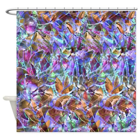 Floral Stained Glass 2 Shower Curtain By Medusa81