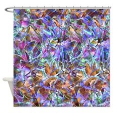Floral Stained Glass 2 Shower Curtain